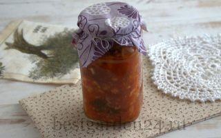 Консервированная цветная капуста с петрушкой и помидорами