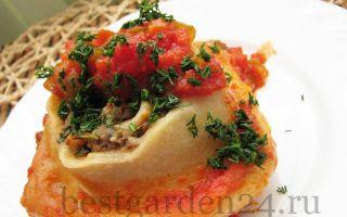 Ленивые пельмени с овощами в духовке