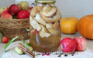 Компот из яблок с пряностями на зиму
