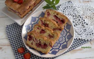 Бисквитный кекс с клубникой — простой и вкусный рецепт с фото