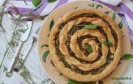Пирог со щавелем и  творогом