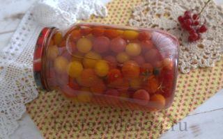 Маринованные помидоры черри с калиной