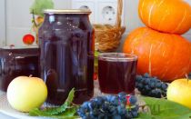 Сок из яблок и винограда в соковарке