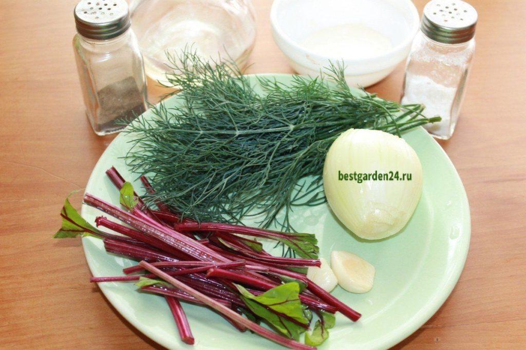 свекольная ботва для салата