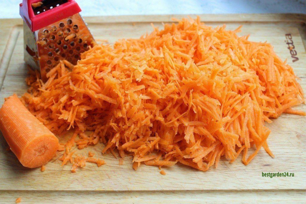 Тертая морковь для торта