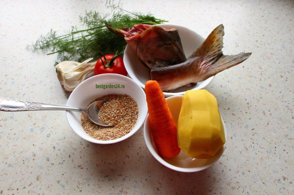 Продукты для рыбного супа