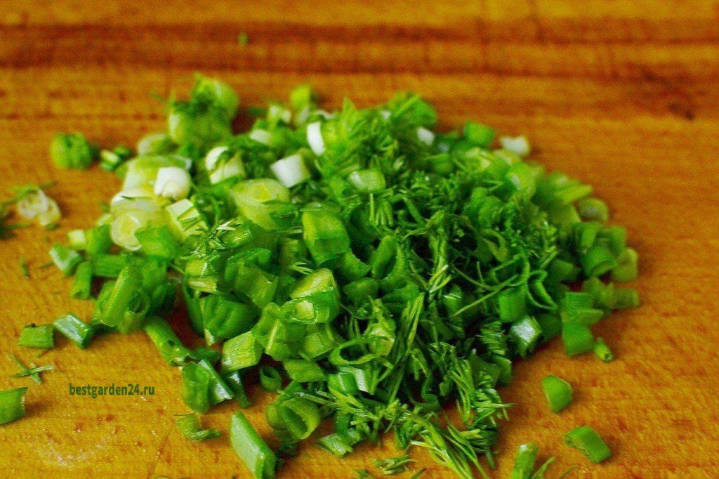 Лук и укроп для салата