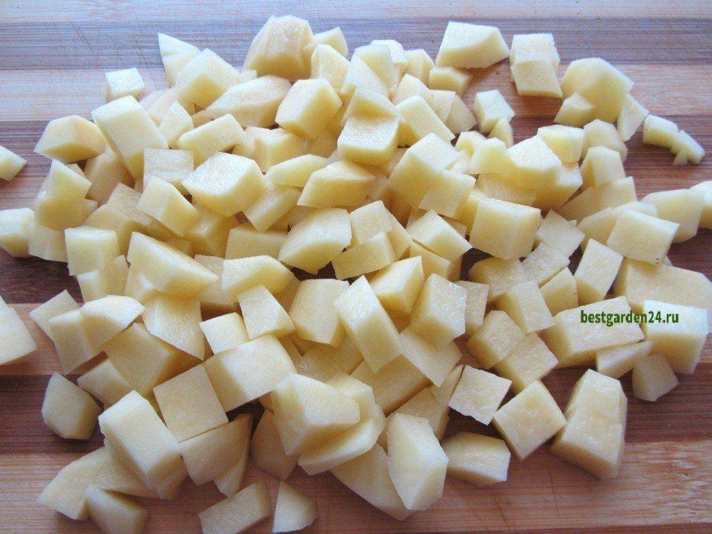 Картофель для супа из щавеля