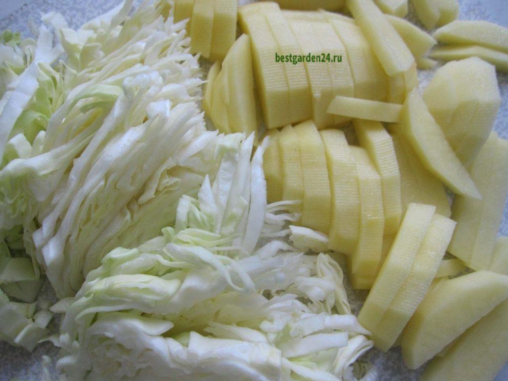 Картофель и капуста для борща