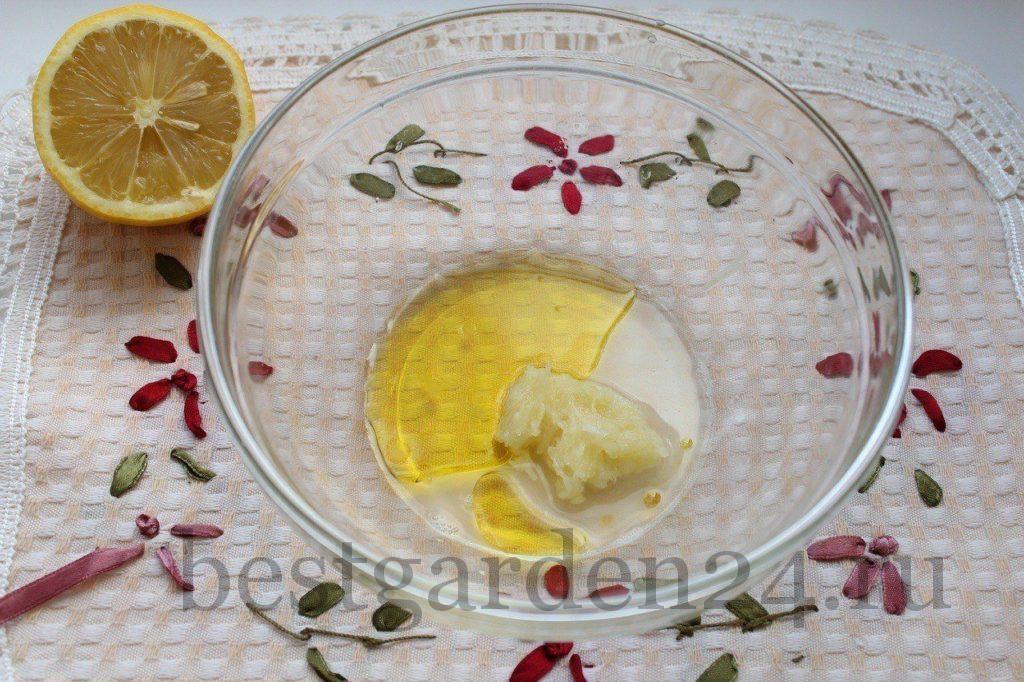 Чеснок, лимон и масло