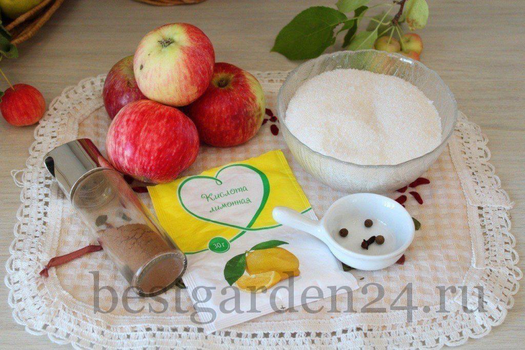 Ингредиенты для пряного компота