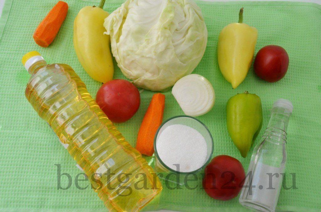 Готовим салат из капусты на зиму