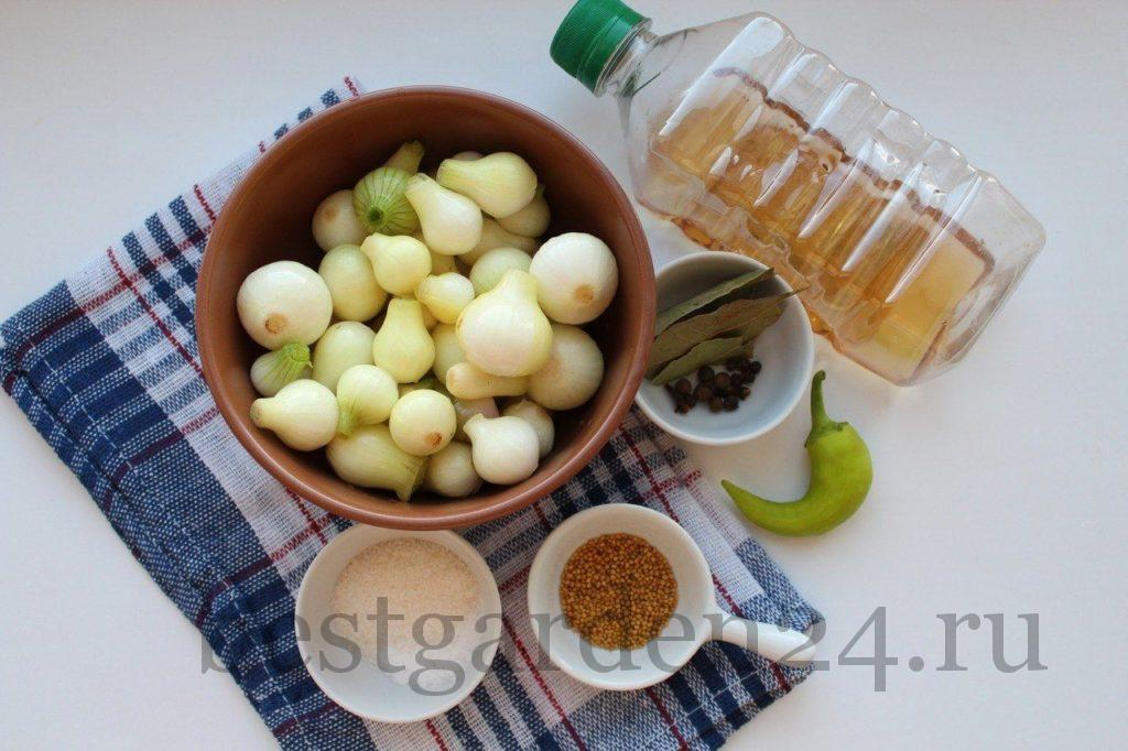 Ингредиенты для мариновки лука