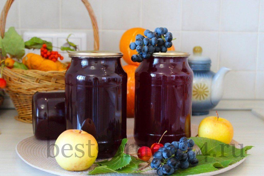 Сок из винограда и яблок на зиму