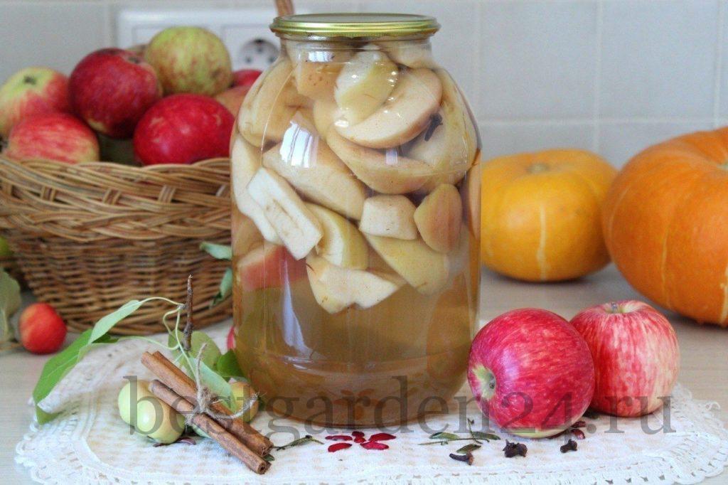Пряный компот с яблоками на зиму
