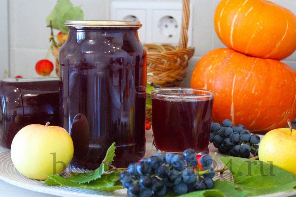 Сок из винограда и яблок