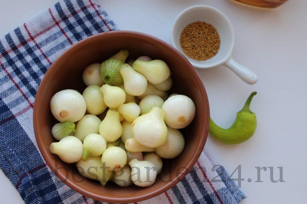 Мелкий лук для мариновки