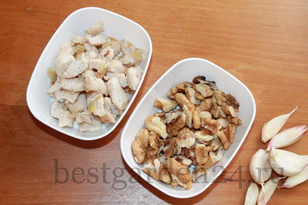 Орехи и чеснок