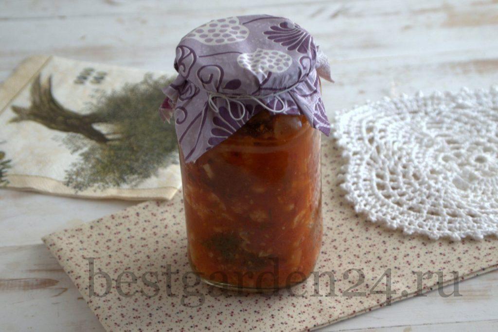 Цветная капуста с петрушкой и помидорами