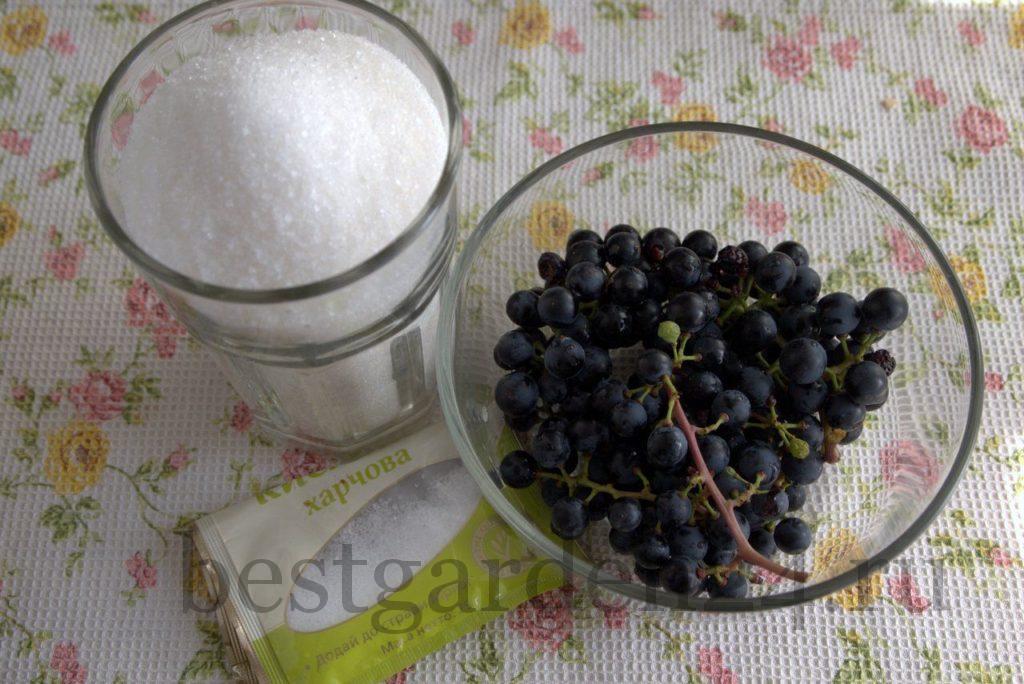 Виноград, сахар, лимонная кислота