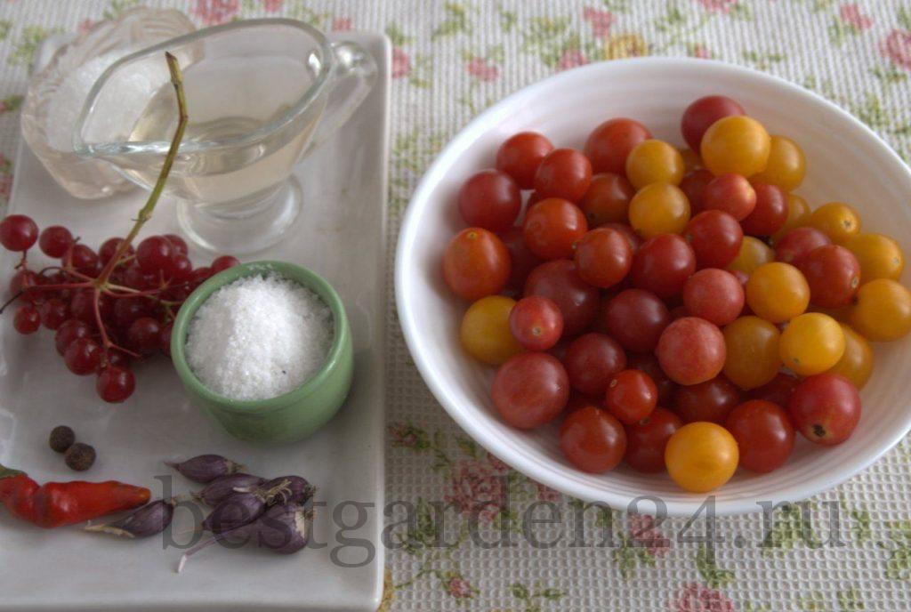 Маринуем помидоры черри с калиной