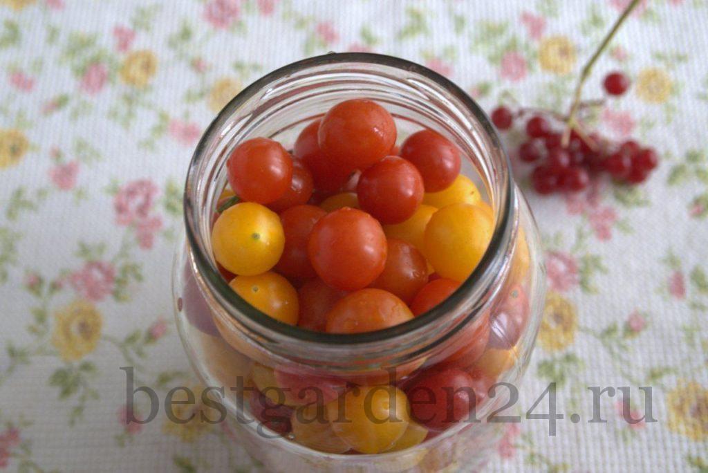 мини-помидоры черри в банке