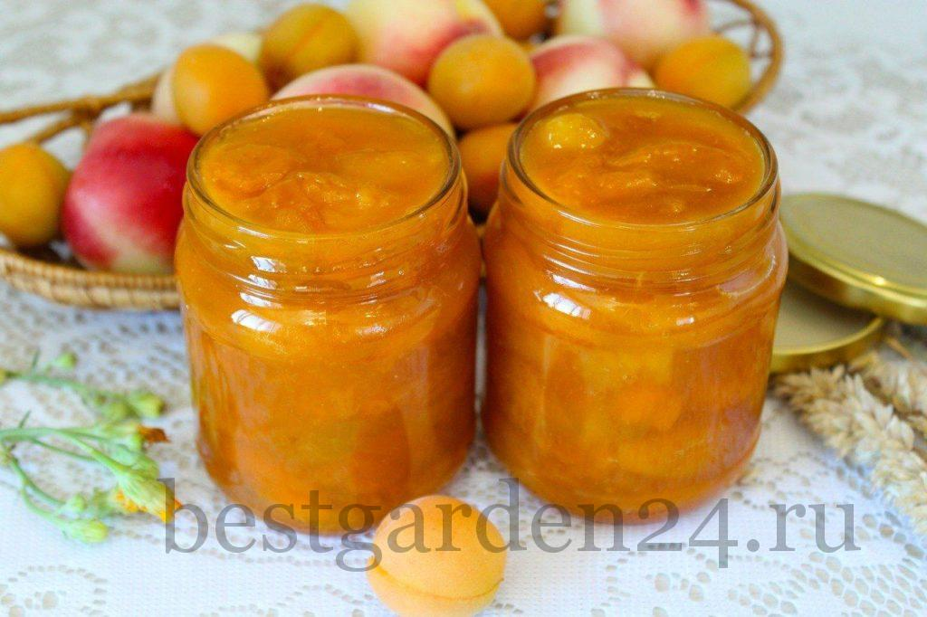 Варенье из персиков и абрикосов на зиму