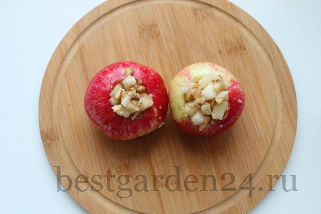 Яблоки с начинкой для запекания