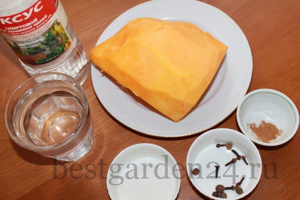 Ингредиенты для мариновки тыквы
