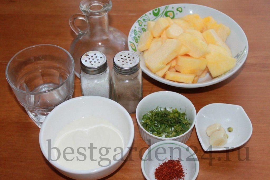 Ингредиенты для тушеной тыквы