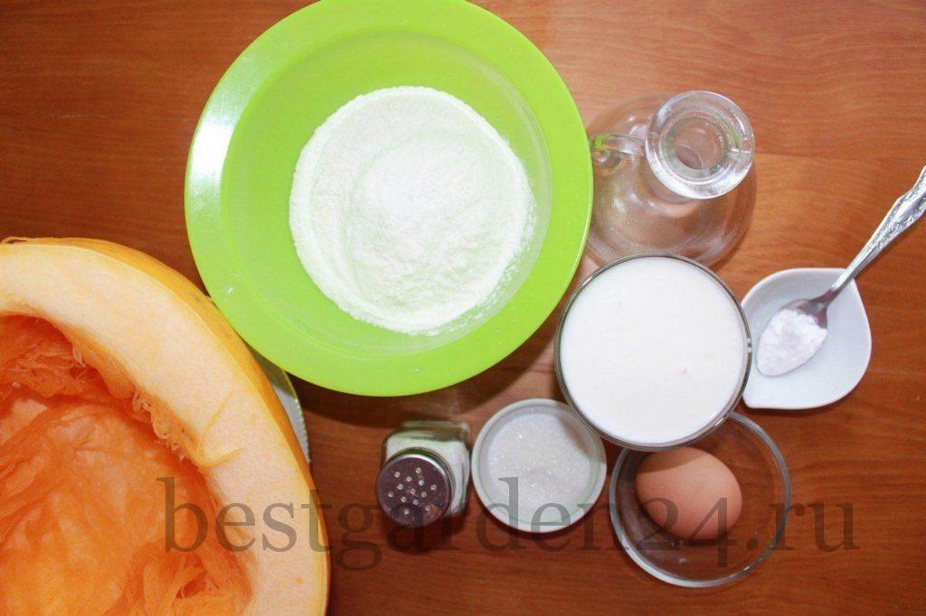 Ингредиенты для тыквенных оладьев