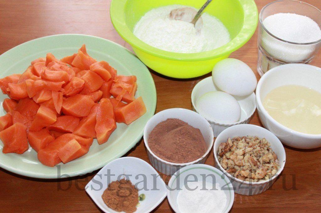 Ингредиенты для кексов из тыквы