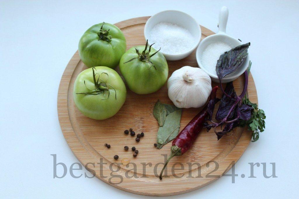 Зеленые помидоры для квашения