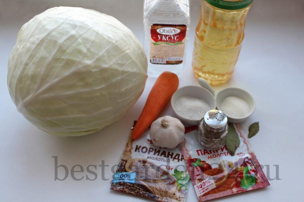 Ингредиенты для голубцов по-корейски