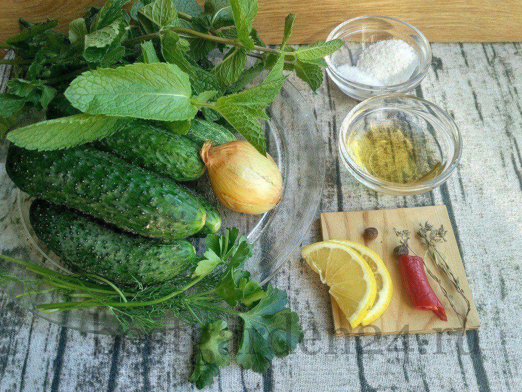 Ингредиенты для салата зимний король