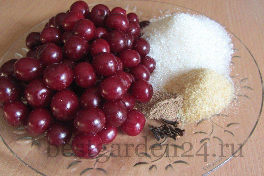 Продукты для вишневого желе