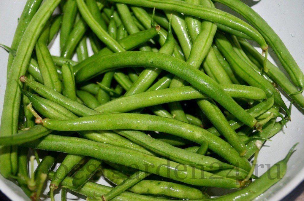 Спаржевая зеленая фасоль для заморозки