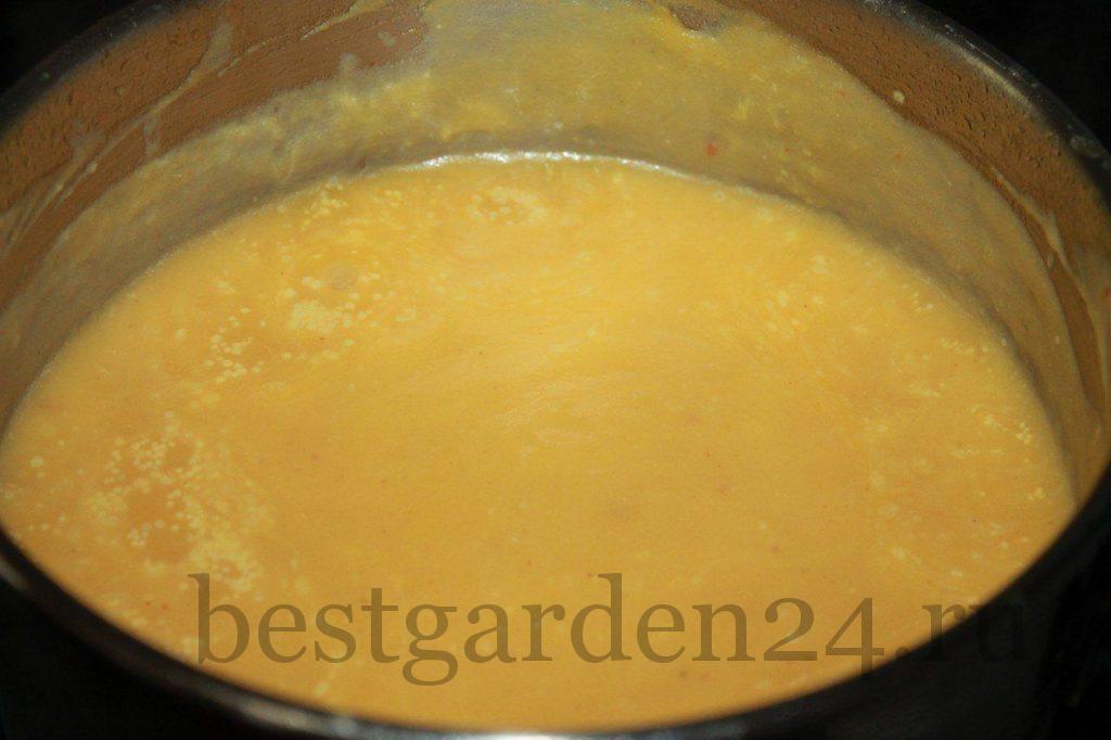 Очень вкусный суп из тыквы готов