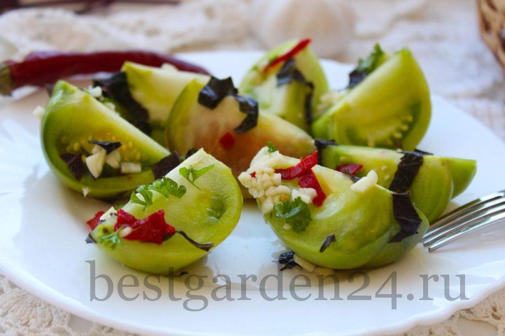 Зеленые помидоры квашенные