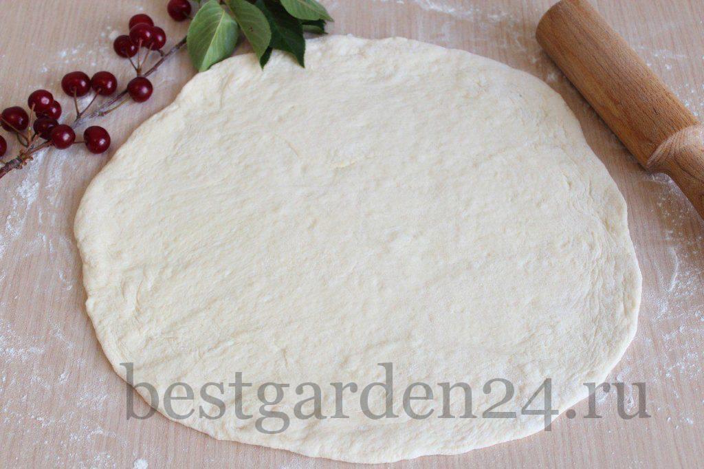 Тесто в круг для пиццы