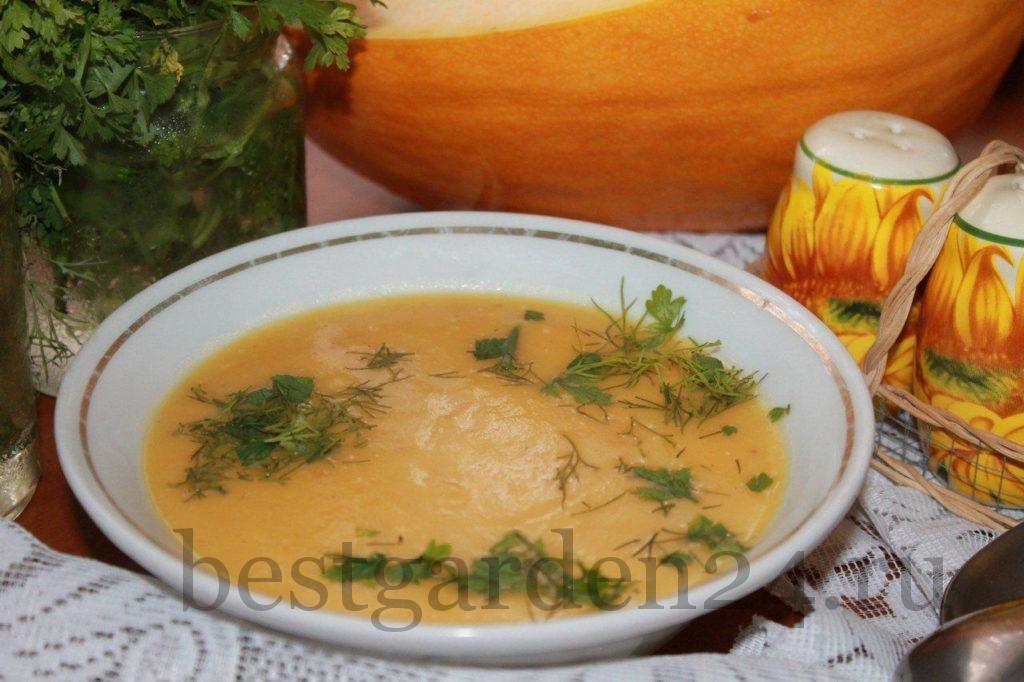 Вкусный крем-суп из тыквы