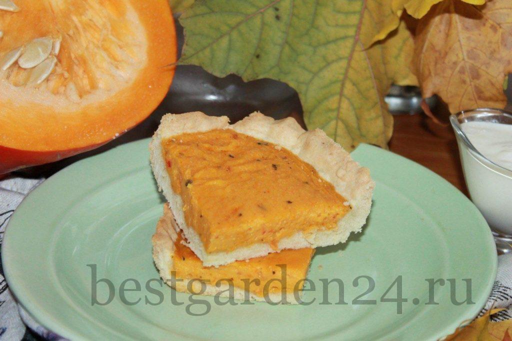 Кусочек американского пирога из тыквы