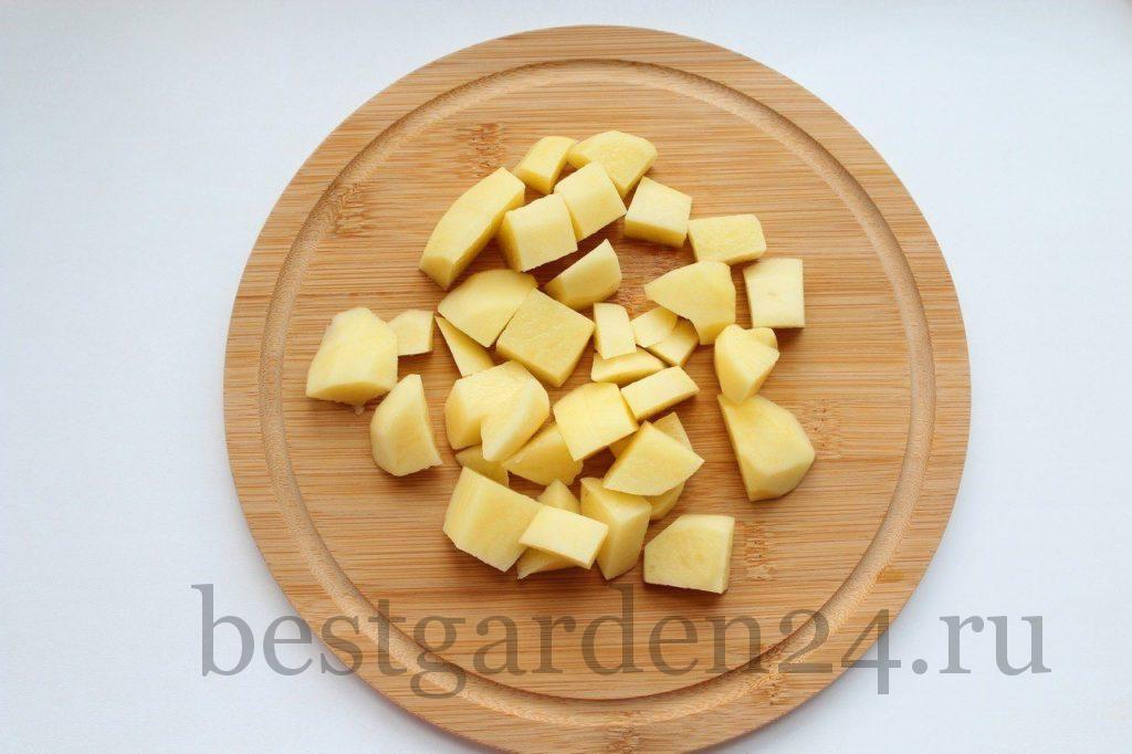 Картофель кубиками для супа