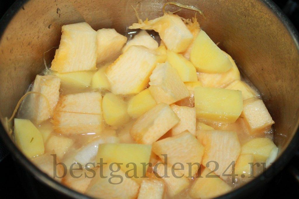 Тыква и картошка
