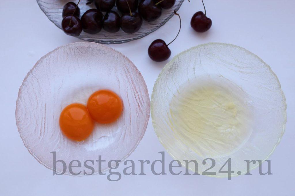 6. Отделяем белки от желтков у яиц