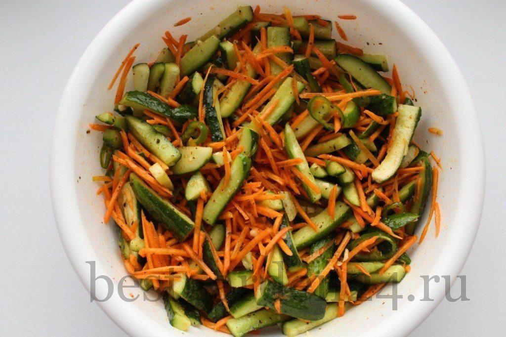 Перемешанный салат на зиму