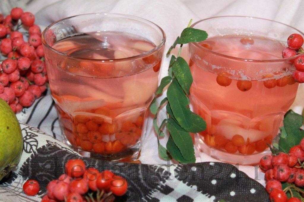 Напиток рябина и груша