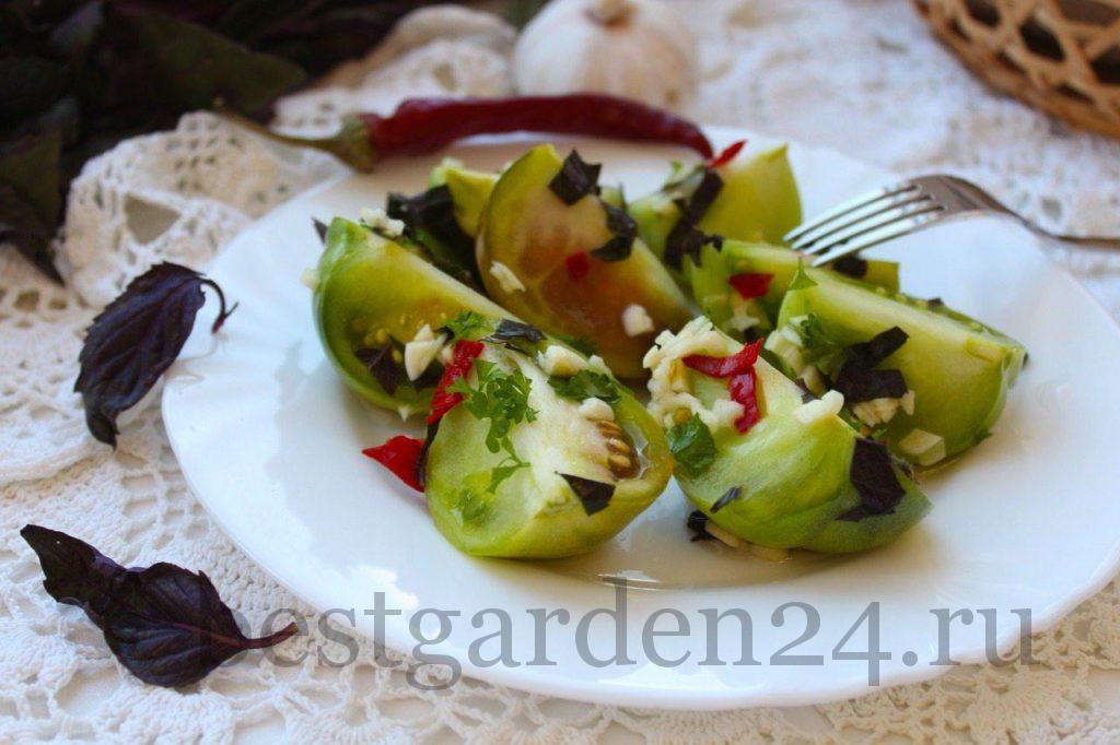 Очень вкусные квашенные зеленые помидоры