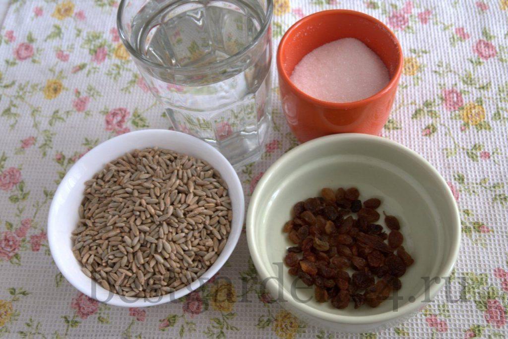 Ингредиенты для ржаного естественного кваса