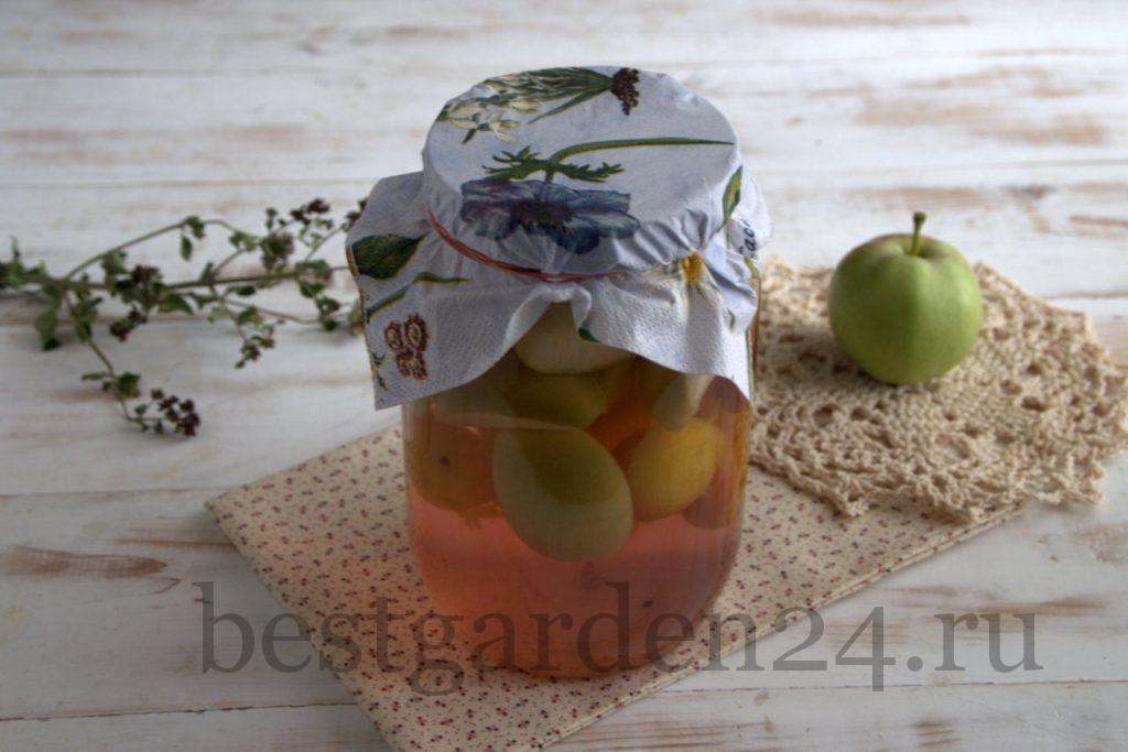 Самый вкусный компот из яблок и алычи